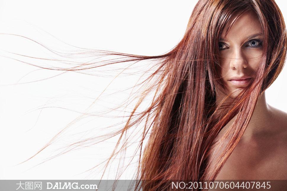 美女长发吹起效果高清摄影图片图片