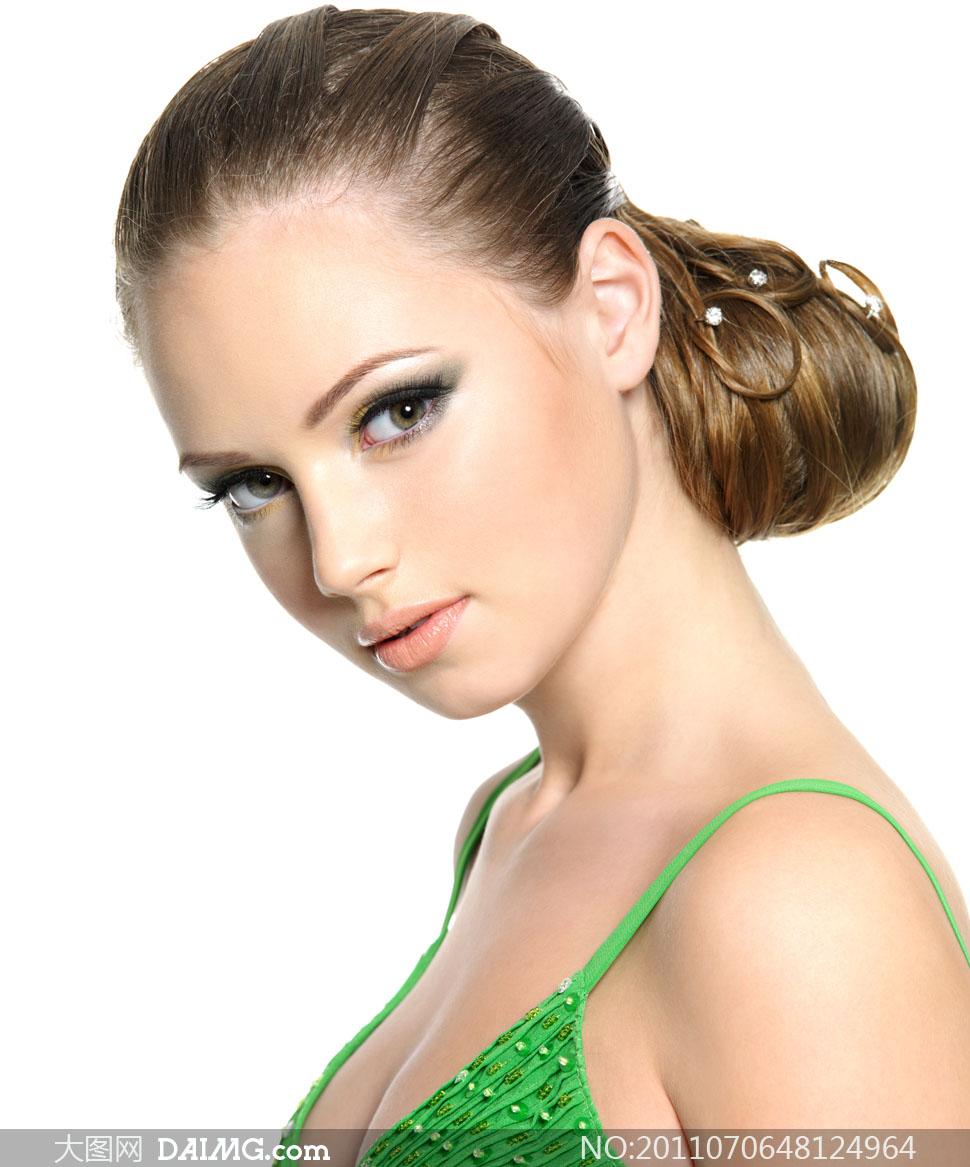 摄影图片大图素材高清人物美女发型头发长发