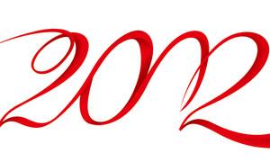2012飘带艺术字设计PSD分层素材