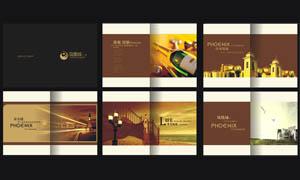 凤凰城地产画册模板矢量源文件