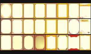 中国古典金色边框矢量素材