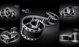 逼真质感电影胶片胶卷矢量素材