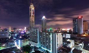 繁华现代大都市夜景高清摄影图片