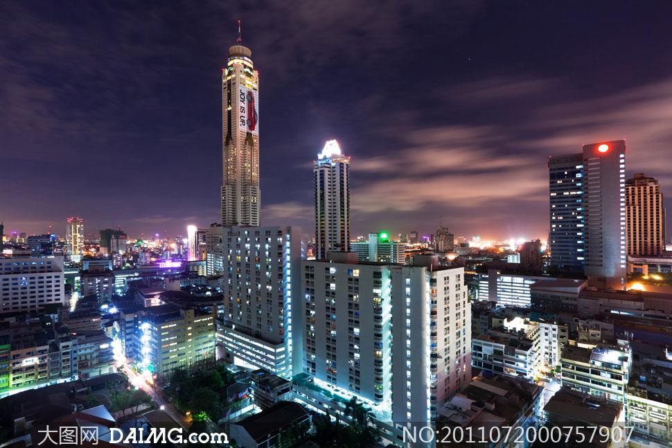 高清繁华都市大�_繁华现代大都市夜景高清摄影图片