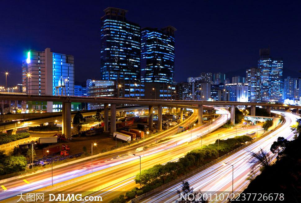 高清繁华都市大�_繁华都市道路交通创意摄影高清图片