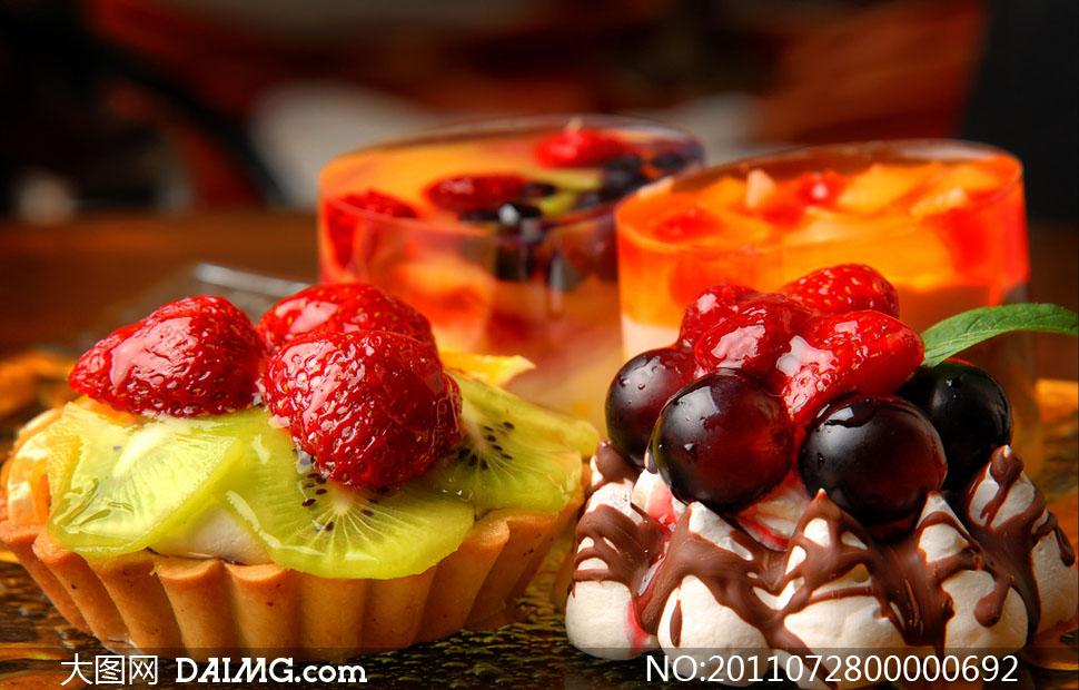 水果蛋糕高清摄影图片
