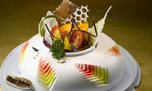 水果椭圆形蛋糕摄影图片