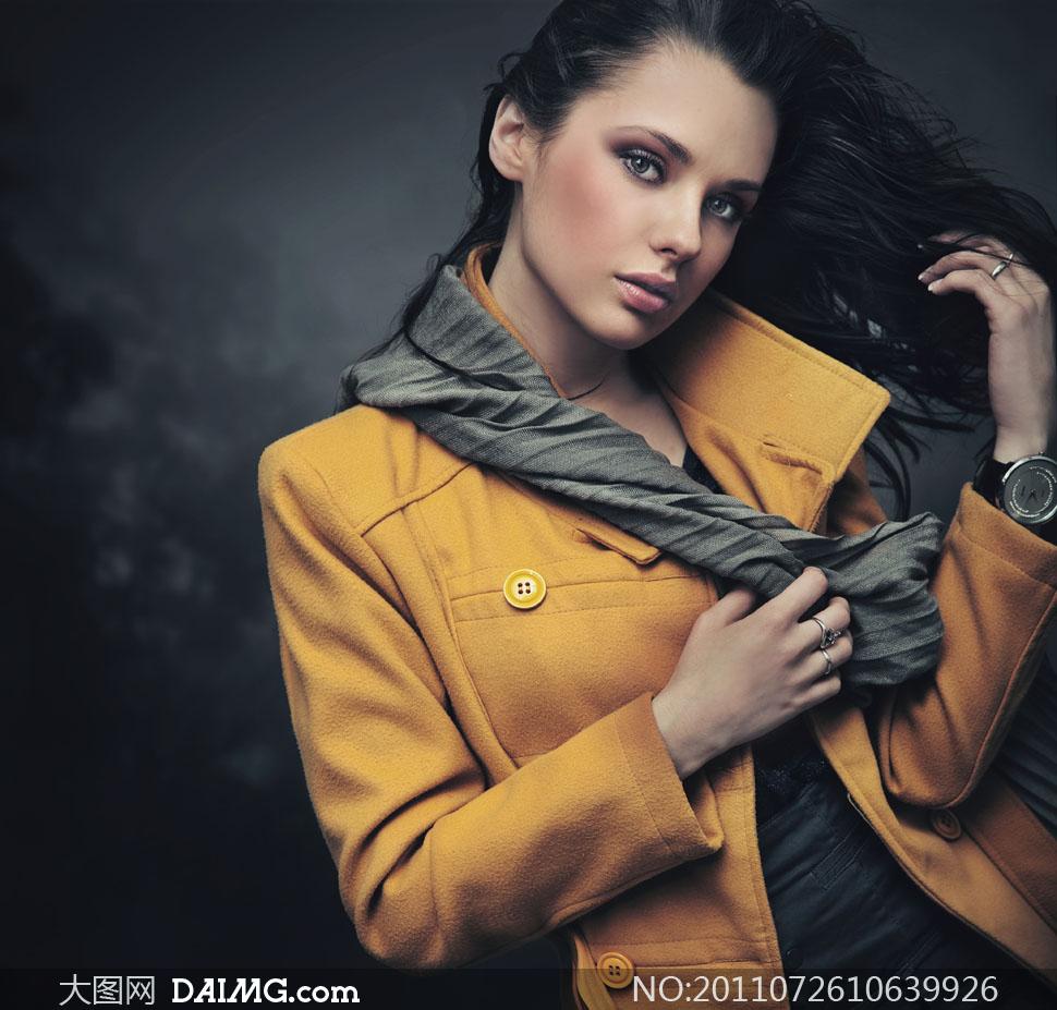 美女高清囹�a��9�k_服装广告模特美女人物高清摄影图片