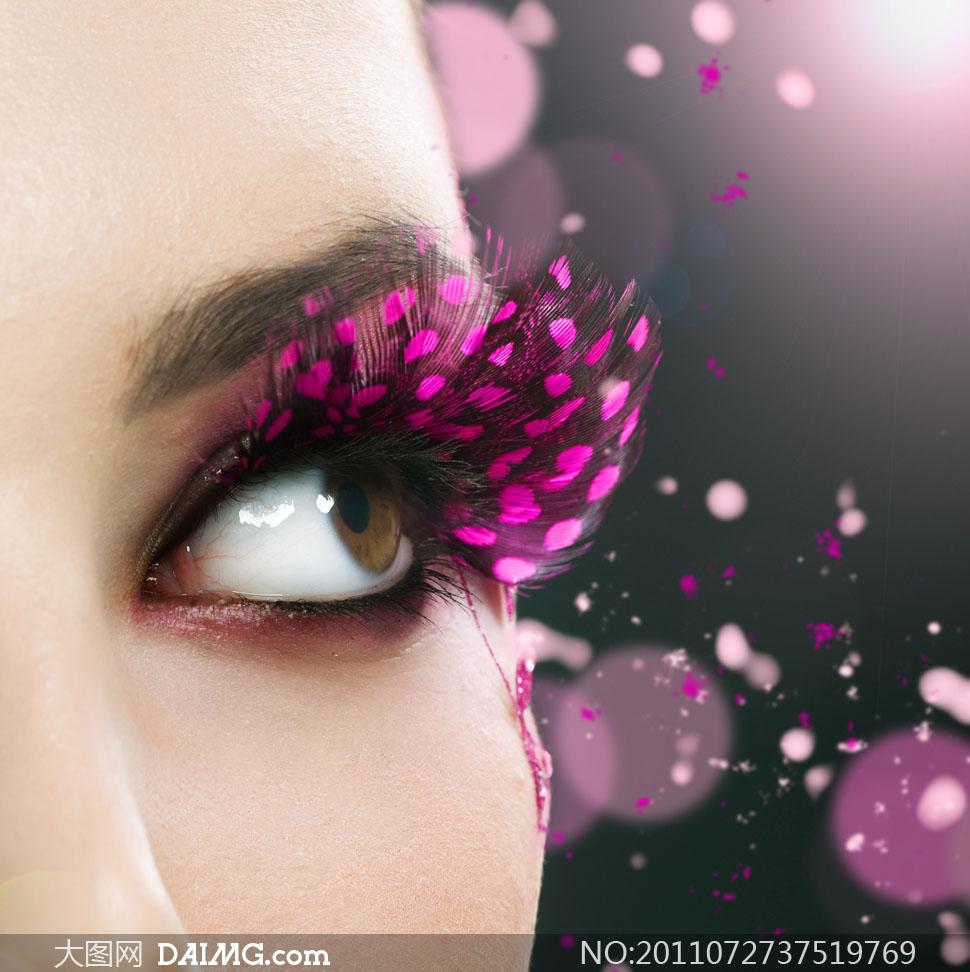 美女人物眼妆彩妆高清摄影图片图片