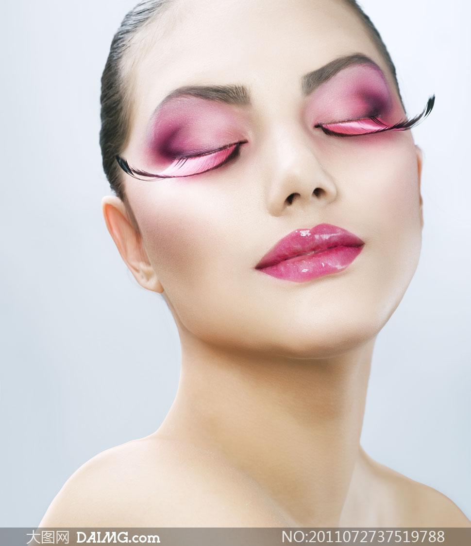 浓妆眼妆美容美女人物高清摄影图片