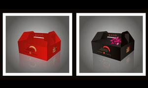 西式蛋糕包装盒设计矢量素材