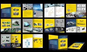 机械公司画册设计矢量源文件