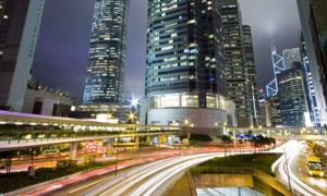 香港繁华夜景创意摄影高清图片