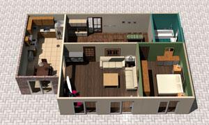 室内家具摆设立体效果图高清图片