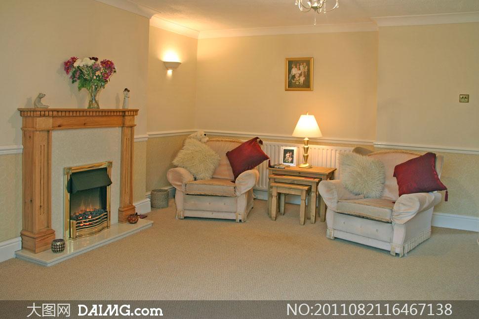 欧式室内房间家具摆设摄影高清图片