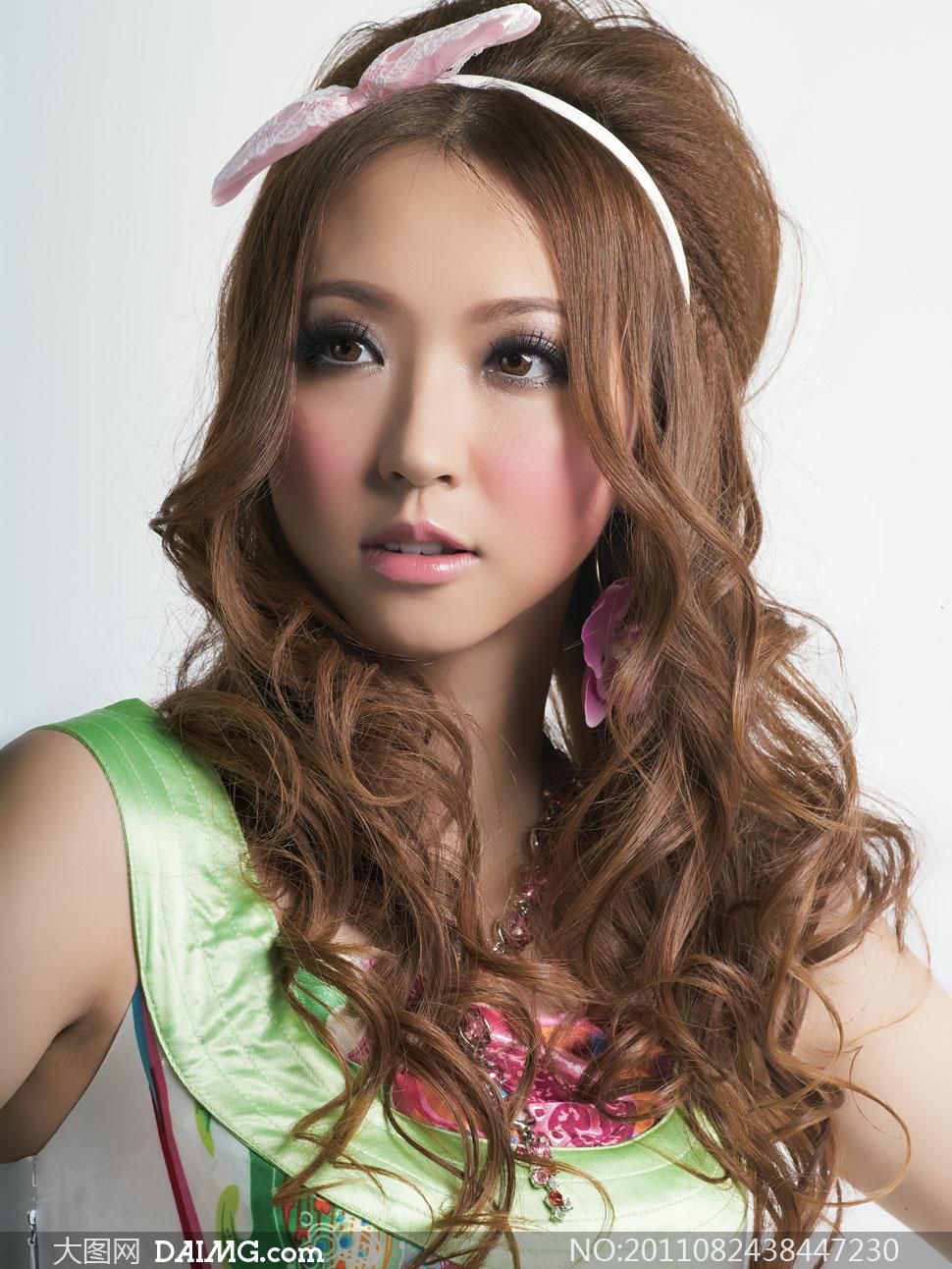 甜美发型模特美女人物高清摄影图片