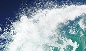 高清晰浪花和海浪笔刷