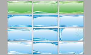 波浪流线型展板设计矢量素材