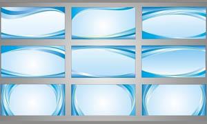 清爽的蓝色展板模板矢量素材