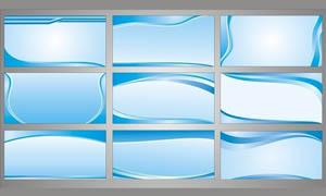 精美的蓝色展板设计矢量素材