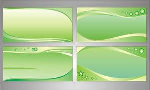 绿色精美的展板设计矢量素材