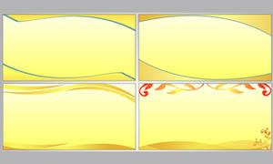 金色展板背景设计矢量素材