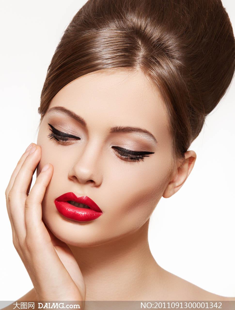 气质化妆美女图片素材