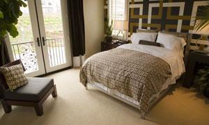 室内卧室家装设计高清摄影图片