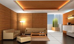 温馨氛围的会客厅高清摄影图片