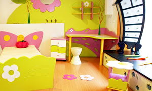 温馨活泼的儿童房装修效果图高清摄影图片