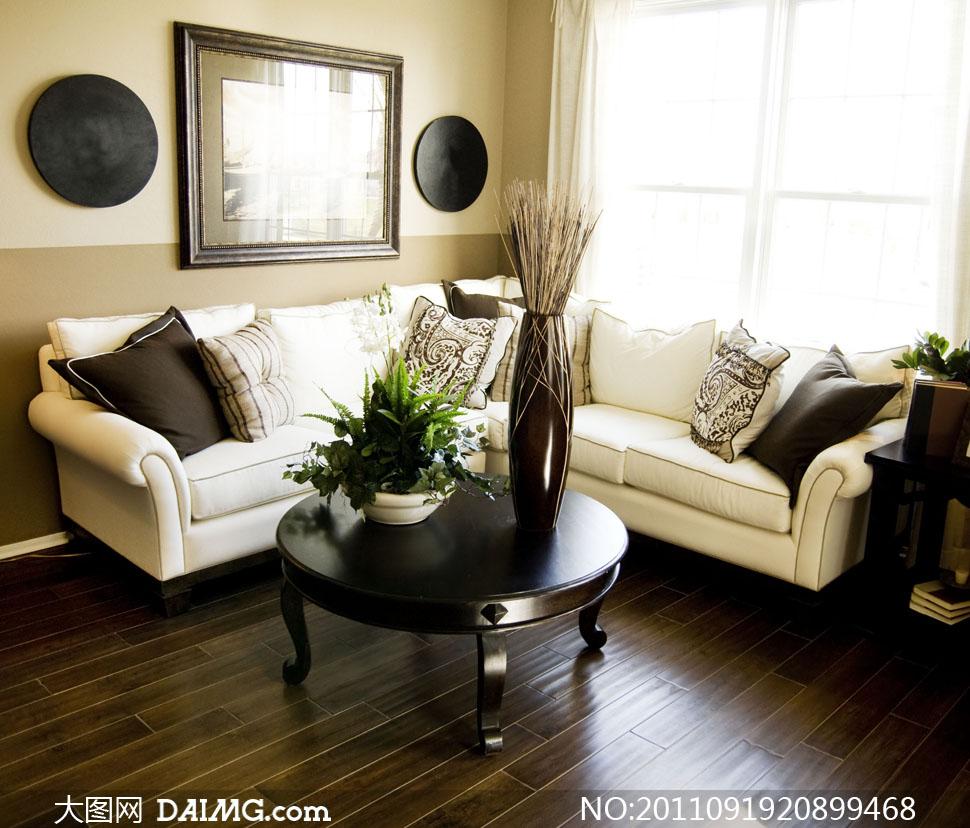 室内小客厅家具布置陈设高清摄影图片 - 大图网设计