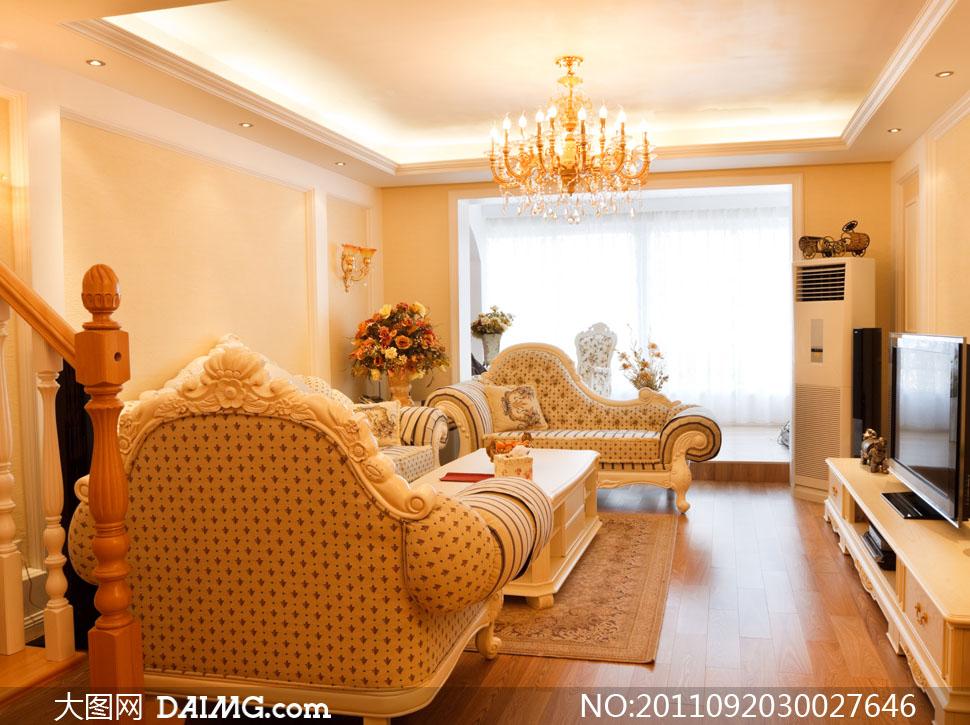 欧式室内设计与家具摆放高清摄影图片