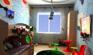 童趣儿童房装修室内效果高清图片