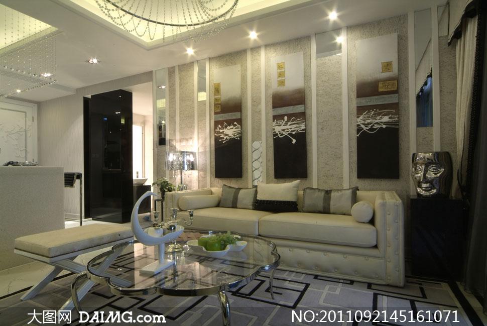 客厅装修室内设计高清摄影图片