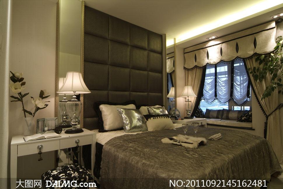 臥室家具擺設布置高清攝影圖片
