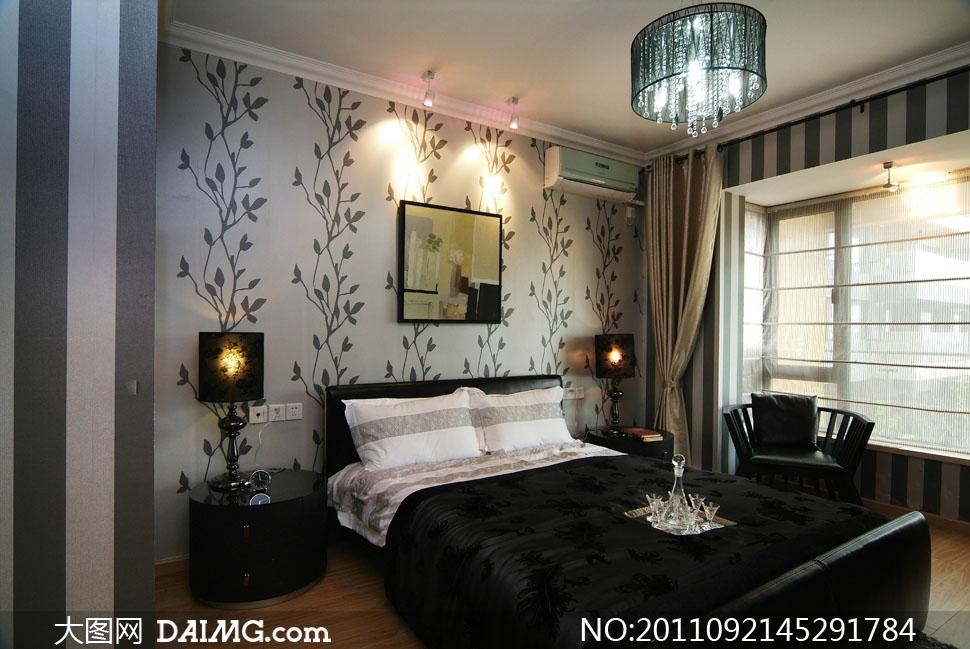 卧室卧房装修效果室内设计高清摄影图片