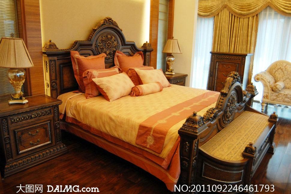 欧式古典风格卧室室内设计效果图