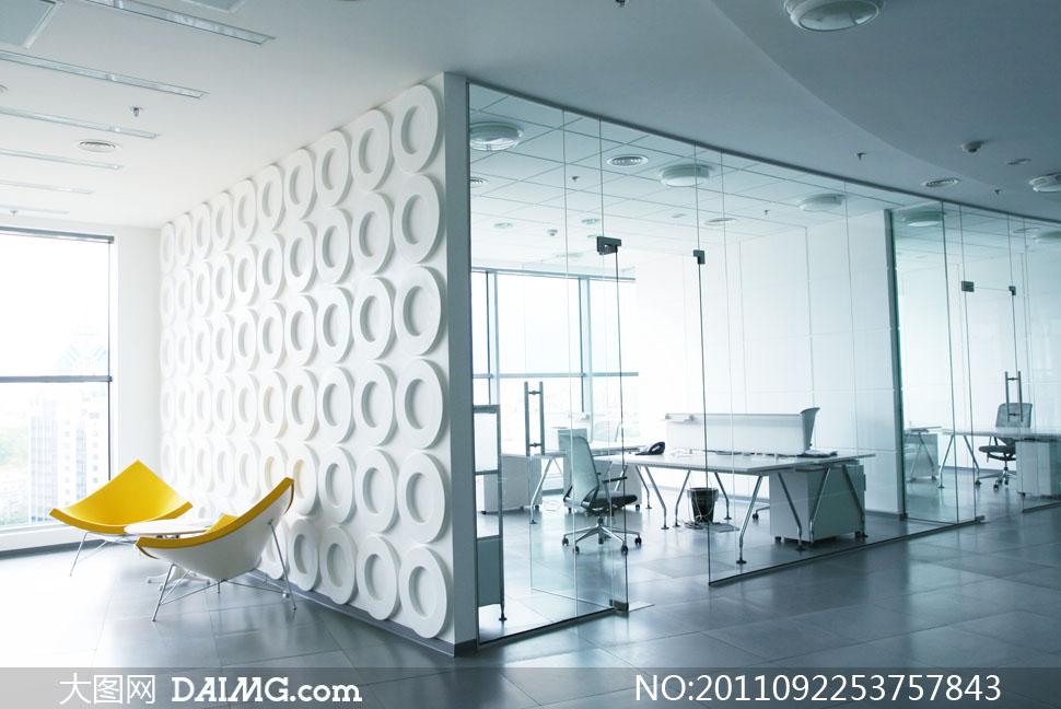 时尚简约风格办公室装修高清摄影图片