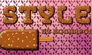 巧克力字体样式