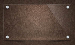 皮革效果公告牌模板PSD素材