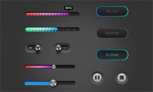 网页播放器UI设计PSD素材