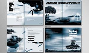 房地产蓝色画册模板PSD源文件