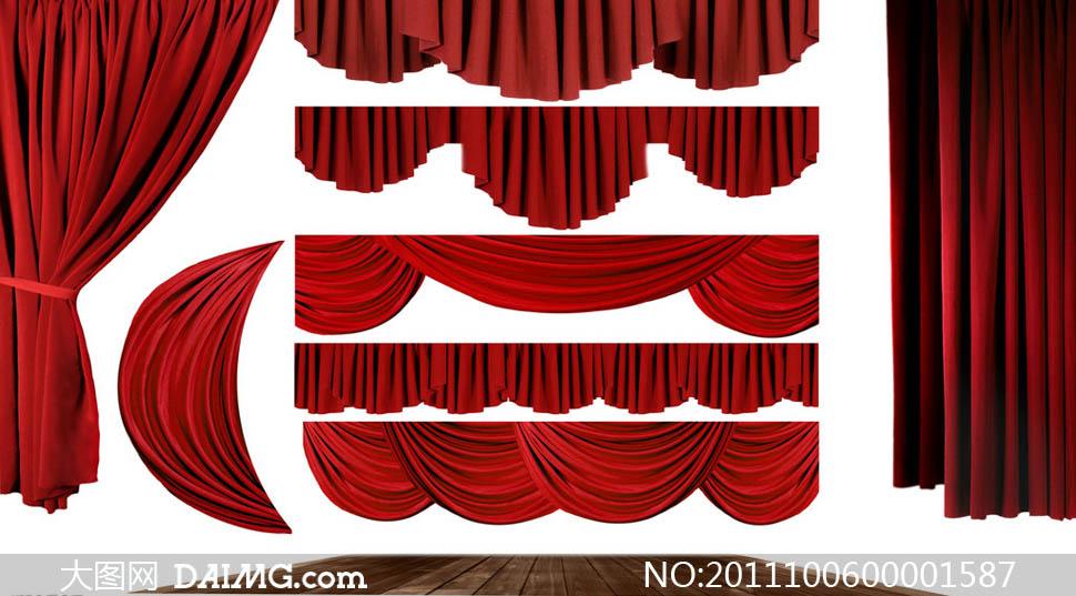 舞台幕布设计图片素材