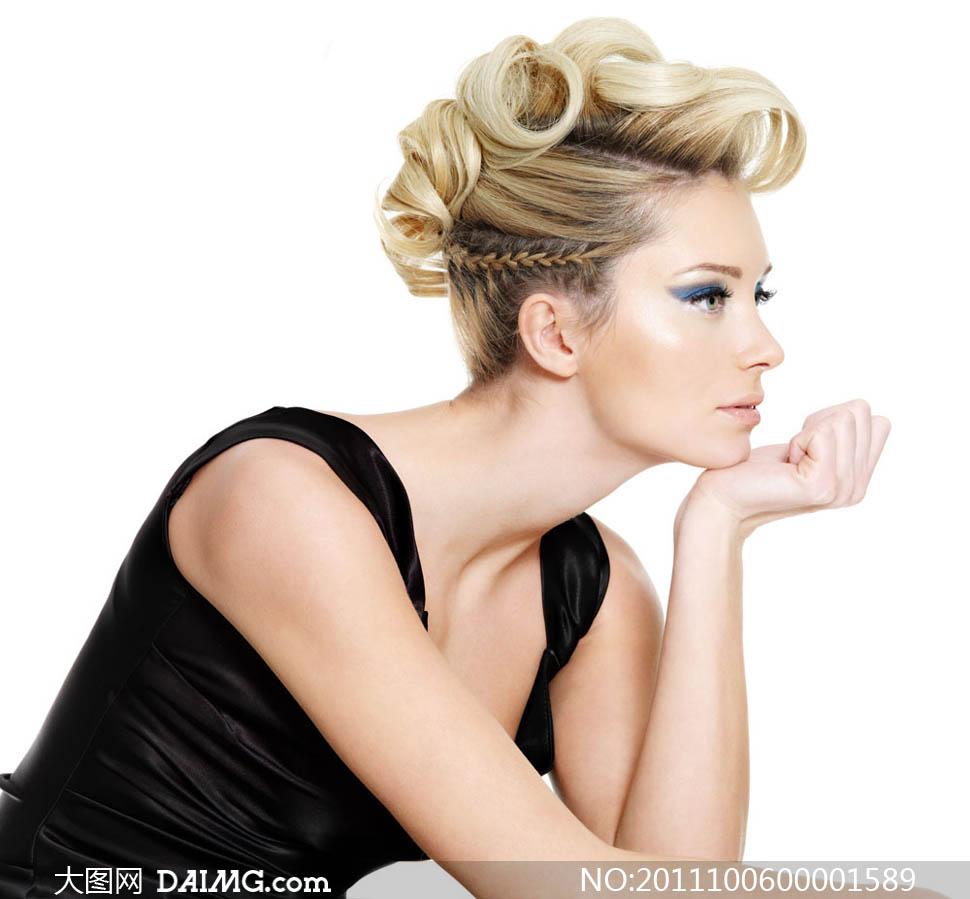 时尚美发模特摄影图片 大图网设计素材下载
