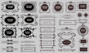 欧式古典复古花纹边框矢量素材