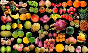 新鲜水果瓜果合集PSD分层素材