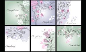 优雅的花纹移门图案设计PSD源文件
