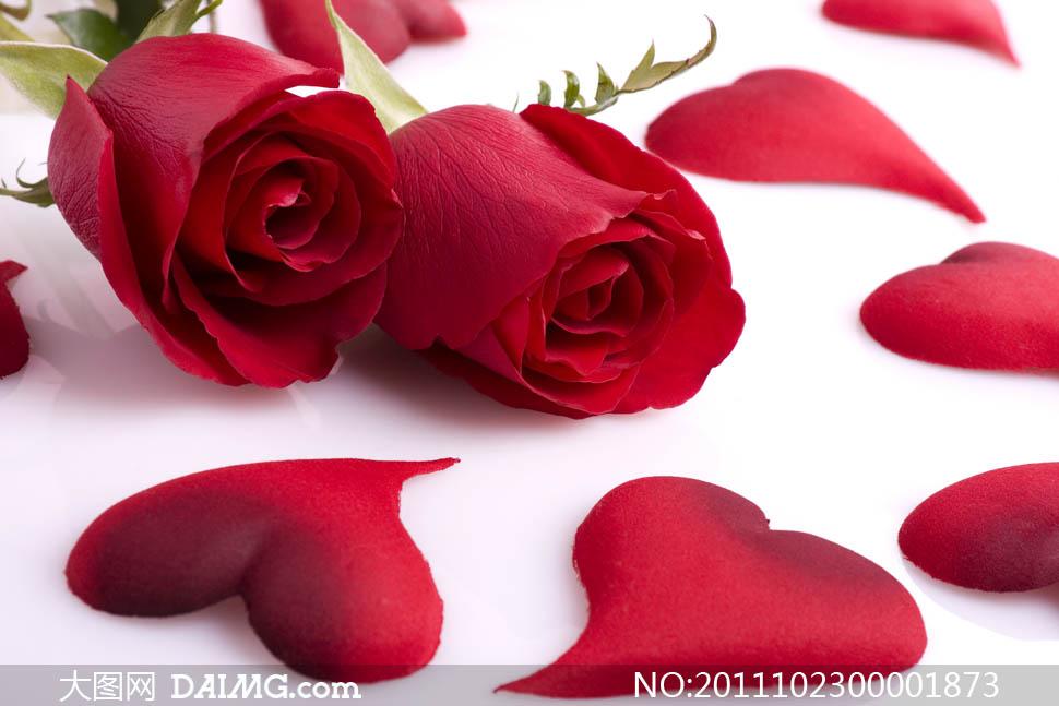 玫瑰花爱心情人节玫瑰蝴蝶结七夕欧式情人节