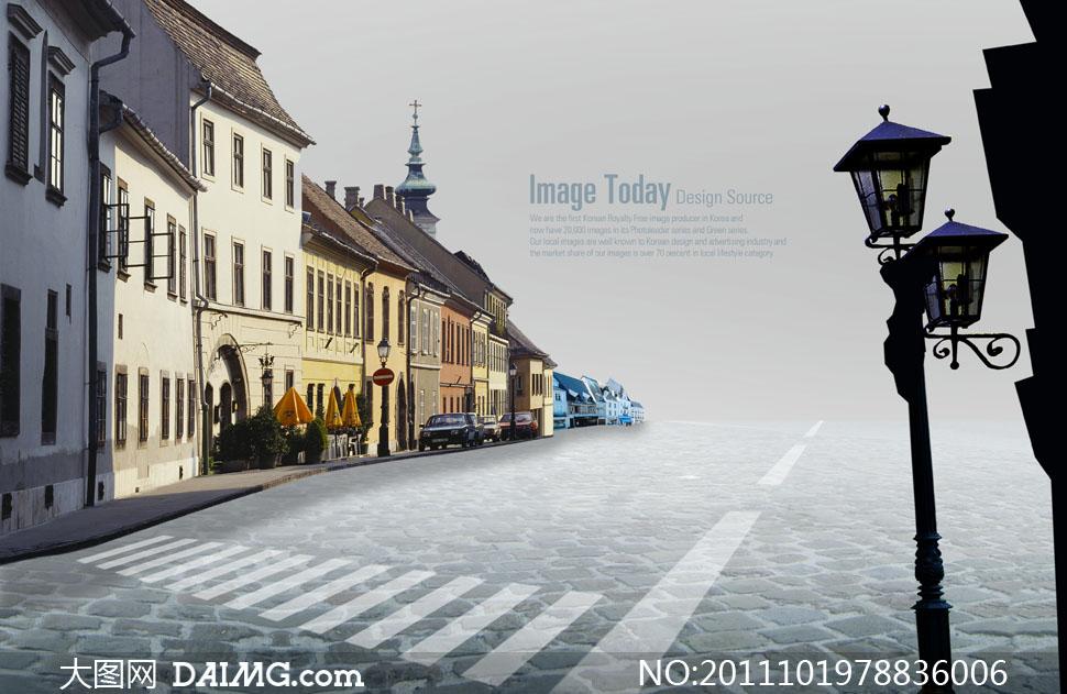 街道psd分层素材     图片