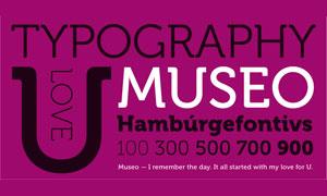 Museo常规系列英文字体下载
